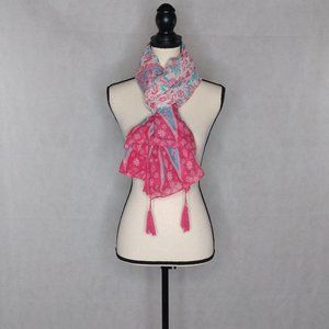 """Scarf/Shawl/Wrap Pink and Blue 40"""" x 70"""""""